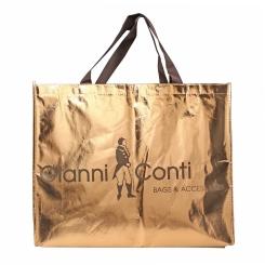 Стильный подарочный пакет большого размера золотистого цвета от Gianni Conti, арт. Подарочный пакет L