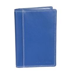 Обложка для автодокументов из натуральной кожи синего цвета от Gianni Conti, арт. 1807463 el.blue multi