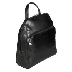 Небольшой городской женский рюкзак из гладкой натуральной кожи черного цвета от Gianni Conti, арт. 913125 black