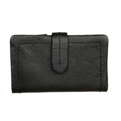 Кожаный женский кошелек черного цвета с клапаном на кнопке от Gianni Conti, арт. 2208236 black