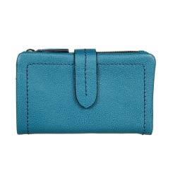Красивый женский кошелек из натуральной кожи бирюзового цвета от Gianni Conti, арт. 2208236 blue petrol