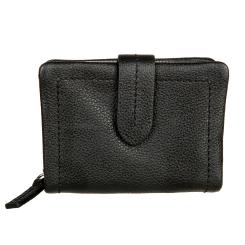 Стильный женский кошелек черного цвета, выполнен из натуральной кожи от Gianni Conti, арт. 2208286 black