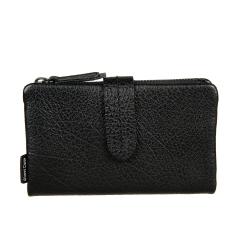Стильный женский кошелек из натуральной кожи с тиснением черного цвета от Gianni Conti, арт. 2488236 black