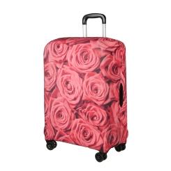 Яркий защитный чехол для чемодана украшенный розами от Gianni Conti, арт. 9042 L