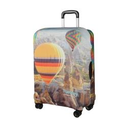 Защитное покрытие для дорожного чемодана, с оригинальным рисунком от Gianni Conti, арт. 9046 M
