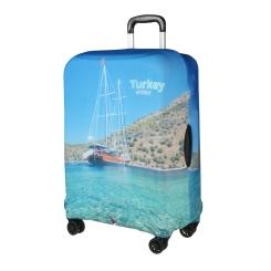 Эластичный чехол для чемодана с прекрасным пейзажем от Gianni Conti, арт. 9048 S
