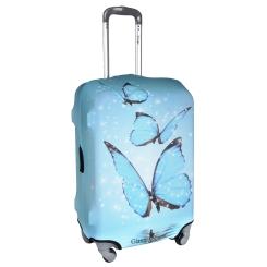 Яркий и красивый чехол для чемодана в голубых тонах от Gianni Conti, арт. 9011 L