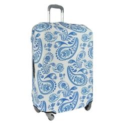 Стильный чехол для чемодана нежной расцветки от Gianni Conti, арт. 9014 L Travel Gzhel
