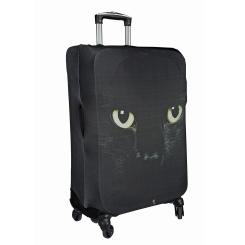 Черный чехол для чемодана с рисунком в виде кошачьих глаз от Gianni Conti, арт. 9027 L