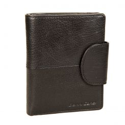 Вертикальное мужское портмоне из натуральной кожи, со вставкой внутри от Gianni Conti, арт. 1138029E black