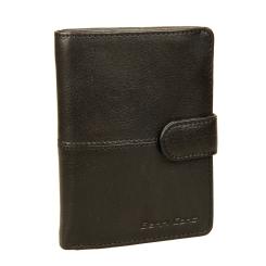 Черное мужское кожаное портмоне с обложкой и застежкой на ремешке от Gianni Conti, арт. 1138451E black