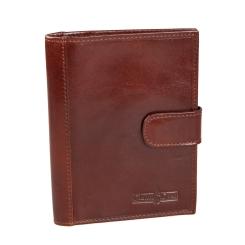 Обложка для паспорта из натуральной кожи коричневого цвета от Gianni Conti, арт. 907035 brown