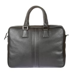 Черная мужская деловая сумка из натуральной кожи, вмещает ноутбук и формат А4 от Gianni Conti, арт. 1601462 black