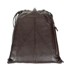 Стильный и вместительный рюкзак из натуральной кожи необычной формы от Gianni Conti, арт. 1542712 dark brown