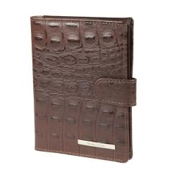 Стильная обложка для документов из натуральной кожи темно-коричневого цвета от Gianni Conti, арт. 1457489E dark brown