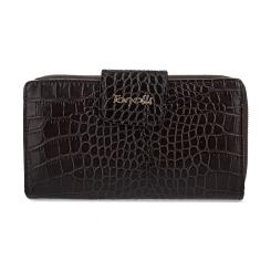 Модный женский кошелек из натуральной кожи с эффектным тиснением от Gilda Tonelli, арт. п2804-d174674