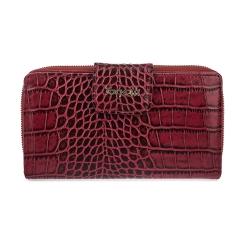 Элегантный женский кошелек красного цвета с тиснением под крокодила от Gilda Tonelli, арт. п2804