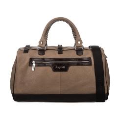 Вместительная дорожная мужская сумка из натуральной кожи в бежевых тонах от Gilda Tonelli, арт. Б0609