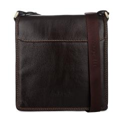 Коричневая мужская сумка планшет из натуральной кожи от Gilda Tonelli, арт. м2054
