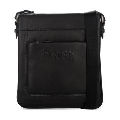 Небольшая мужская сумка планшет из натуральной кожи, модель с клапаном от Gilda Tonelli, арт. м2396