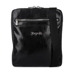 Практичная мужская сумка планшет из лакированной натуральной кожи от Gilda Tonelli, арт. м2912