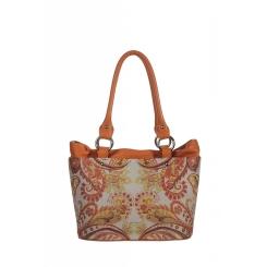 Стильная женская сумка из натуральной кожи, украшенная ярким рисунком от Gilda Tonelli, арт. SSGT4349a