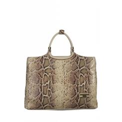 Женская кожаная сумка с оригинальными ручками, имитация кожи змеи от Gilda Tonelli, арт. SSGT5180sibg