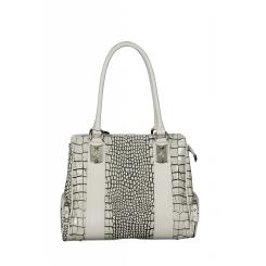 Оригинальная кожаная женская сумка с поверхностью, имитирующей кожу змеи от Gilda Tonelli, арт. SSGT6210 kreola