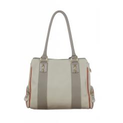 Серая женская сумка с двумя маленькими кармашками по бокам и длинными ручками от Gilda Tonelli, арт. SSGT6210fb