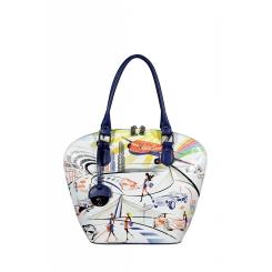 Эффектная молодежная сумка оригинальной формы и с рисунком от Gilda Tonelli, арт. SSGT9134