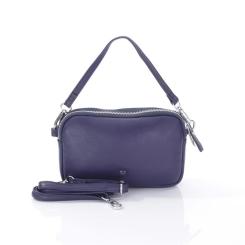 Аккуратная женская сумка на плечо из синей натуральной кожи от Giorgio Ferretti, арт. 201850087A Q28 blue GF