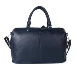 Строгая женская деловая сумка из натуральной кожи синего цвета от Giorgio Ferretti, арт. 31474B Q53 blue GF