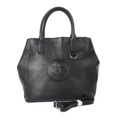 Вместительная женская повседневная сумка из черной натуральной кожи от Giorgio Ferretti, арт. 32343 HG01 black GF