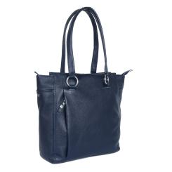 Стильная женская сумка на плечо из натуральной кожи синего цвета от Giorgio Ferretti, арт. 35188 YF-A001 blue GF
