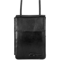 Компактный нагрудный кошелек с тонким регулируемым ремнем от Giorgio Ferretti, арт. 061 012 nero GF