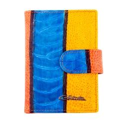 Двухцветная визитница из натуральной кожи, закрывается на кнопку от Giorgio Ferretti, арт. 00023-A458 blue GF