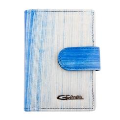 Стильная визитница из натуральной кожи с принтом от Giorgio Ferretti, арт. 00023-A461 blue GF