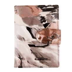 Стильная визитница из натуральной кожи с принтом от Giorgio Ferretti, арт. 00023-A465 grey GF