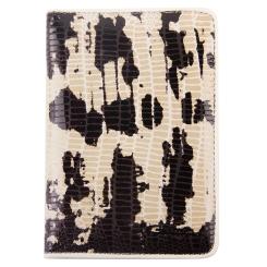 Эффектная обложка для документов из натуральной кожи с тиснением от Giorgio Ferretti, арт. 00019-A327 beige/black GF