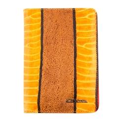 Яркая желтая кожаная обложка для документов с оранжевой вставкой от Giorgio Ferretti, арт. 00019-A457 yellow GF