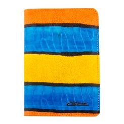 Роскошная и яркая обложка для документов, модель из натуральной кожи от Giorgio Ferretti, арт. 00019-A458 blue GF