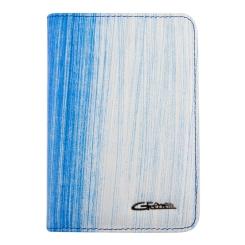 Кожаная обложка для документов, выполненная в голубых тонах от Giorgio Ferretti, арт. 00019-A461 blue GF