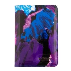 Кожаная обложка для документов, украшенная абстрактным рисунком от Giorgio Ferretti, арт. 00019-A464 blue GF