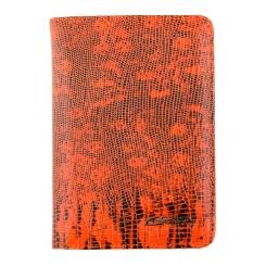 Кожаная обложка для документов, украшенная мелким тиснением от Giorgio Ferretti, арт. 00019-A479 orange GF