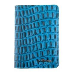 Обложка для документов, выполненная из натуральной кожи голубого цвета от Giorgio Ferretti, арт. 00019-A491 blue GF