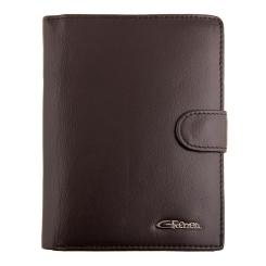 Мужское кожаное портмоне коричневого цвета, с отделом для автодокументов от Giorgio Ferretti, арт. Портмоне для авто/д 00001-10 coffee GF
