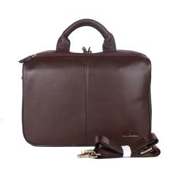 Вместительный мужской портфель коричневого цвета, из натуральной кожи от Giorgio Ferretti, арт. 042 018 coffee GF