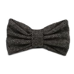 Стильный серый галстук-бабочка из натуральной качественной шерсти от Hadley, арт. Grey