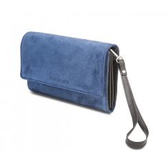 Вечерняя женская сумка из дорогой и качественной замши от Hadley, арт. Azure Joy