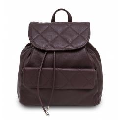 Стильный женский рюкзак из зерненной натуральной кожи цвета бургунди от Hadley, арт. Biscuit Burgundy